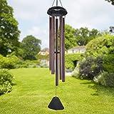 SUREH Windspiel für den Außenbereich, groß, tiefer Klang, 91,4 cm lang, Garten-Windspiel mit 5 Metallröhren