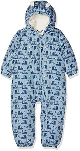 NAME IT Baby - Jungen Schneeanzug NBMMIR SUIT, Mehrfarbig (Dusty Blue Dusty Blue), 74-80 (Herstellergröße: 6-12m)