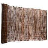 Floordirekt Weidenzaun | 5 Größen | Weidematte | Weidenmatte | Sichtschutz | Dekorative Zäune (150x500 cm)