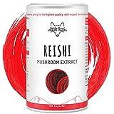 fable food Reishi Kapseln Hochdosiert - 40% bioaktive Polysaccharide - 500mg pro Kapsel - 4 Monatsvorrat - Hergestellt in Deutschland