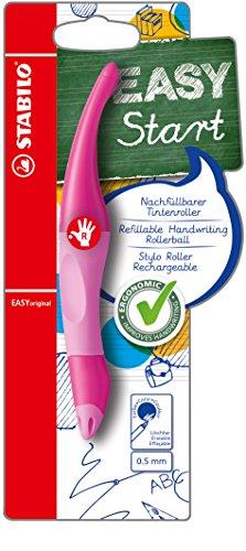 Ergonomischer Tintenroller - STABILO EASYoriginal in pink hell/dunkel - Schreibfarbe blau (löschbar) - inklusive Patrone - für Rechtshänder