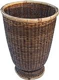 Guru-Shop Rattan Papierkorb, Asiatischer Korb, Größe: Mittel (D-26 cm, H-37 Cm), Körbe & Korbtaschen