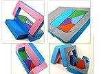Spielsofa 4in1 Kindersofa Spielmatraze für das Kinderzimmer Spielpolster Softsofa rosa/hellblau Puzzle Kinderzimmersofa Spieltisch Kindermöbel