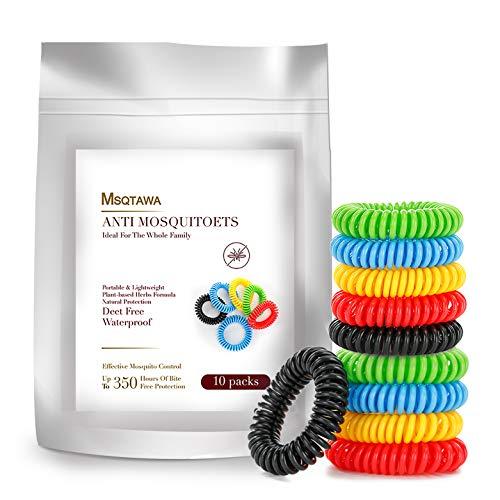 MSQTAWA Mückenschutz Armband Mückenschutz Bänder Anti Mückenarmband Mücken Gürtel für Kinder geeignet, Erwachsene Indoor und Outdoor Camping