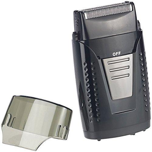 Sichler Men's Care Akkurasierer: Vibrationsfreier Folien-Akku-Reiserasierer, IPX5, USB-Ladebuchse (Trocken-Rasierer)