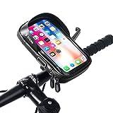 Hikenture Fahrrad Lenkertasche Handyhalter, wasserdichte Fahrradtasche mit Sensitivem TPU-Touchscreen, Rahmentasche Handyhalterung Fahrrad, Geeignet für Smartphones bis 5,8 Zoll (Neu)