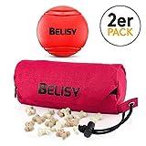 BELISY Hundespielzeug Set I Spaßiger Hundeball (5cm) & Futterdummy für Hunde
