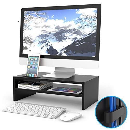 1home Bildschirmständer Notebooktisch Notebookständer Laptopständer Computertisch 420mm Breit 2 Stufen