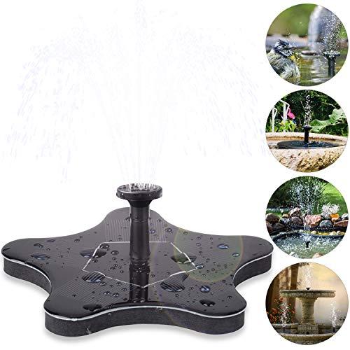 innislink Solar Springbrunnen, Solar Teichpumpe Pumpe Springbrunnen Solar Schwimmender mit 1.4W Monokristalline Wasserpumpe Fontäne Pumpe für Gartenteiche, Fisch-Behälter, Vogel-Bad und Kleiner Teich