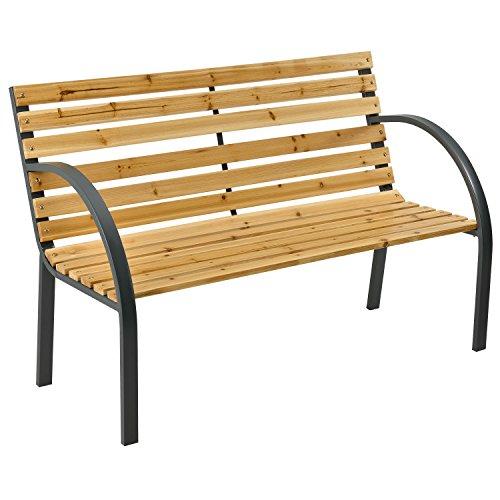 ArtLife 2 Sitzer Gartenbank Modena aus lackiertem Holz und Stahl