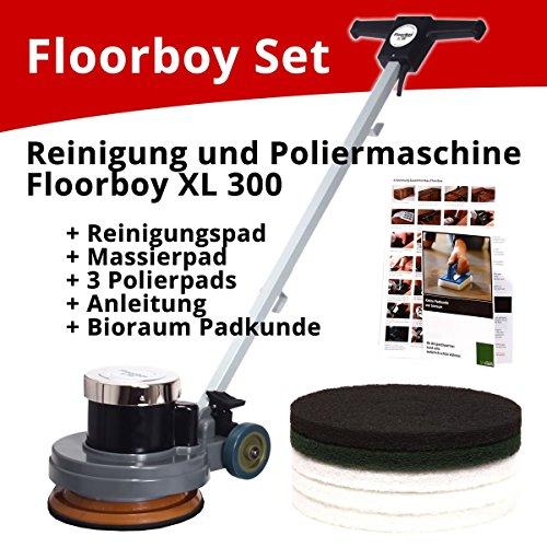 Floorboy XL 300 Reinigungs- und Poliermaschinen Set mit Anleitungen, Pads und Padkunde von Bioraum