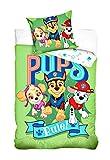 PawPatrol 2-TLG Kinderbettwäsche 100x135 cm + 40x60 100% Baumwolle PAW182002 Bettwäsche