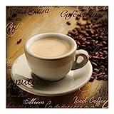 Vliestapete Küchentapeten No.CG76 Coffee Scents - Fototapete Quadrat Vlies Tapete Wandtapete Wandbild Foto, Größe HxB:240cm x 240cm