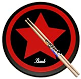 Pearl PDR-08SP Practice Drum Pad Übungspad 8' + Keepdrum 5A Drumsticks