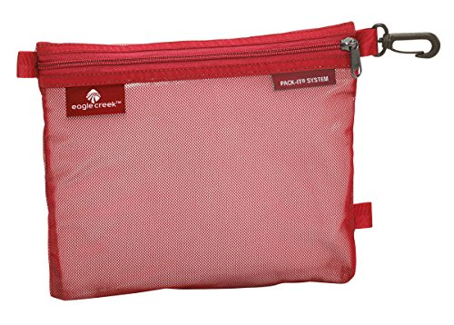 Eagle Creek Pack-It Original Sac platzsparende Packlösung mit Clip Wasserabweisender Kulturbeutel, M, Rot