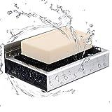 Seifenschale ohne Bohren,ToHa Badezimmer Küche 3M Selbstklebende Seifenschale Edelstahl-Seifenhalter,Extra Aufkleber Kostenlos