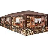 TecTake 403122 - XL Pavillon Almhütte 3x9 m, 8 abnehmbare Seitenteile, Wasserabweisendes Material