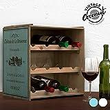 Weinregal Regal Weinschrank Weinständer Weinlager Vintage Hell-Dunkel-Variation Küchenregal stapelbar