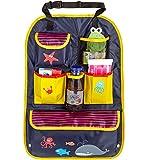 Mias Rücksitztasche, bunt bedruckt mit vielen Fächern, wasserabweisend, ideal als Reisebegleiter für Kinder - mit 2 Jahren Geld-zurück-Garantie - Autositz-Organizer / Rückenlehnen-Schutz / Kick Mat