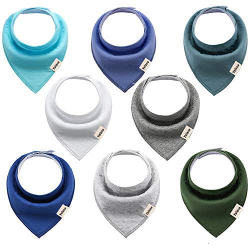 Yafane Baby Dreieckstuch Lätzchen 8er Halstücher Spucktuch Baumwolle Saugfähig Weich für Baby Jungen Kleinkinder