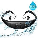 Tayogo MP3-Player Wasserdicht Schwimmen MP3 mit Kopfhörern 8GB IPX8 Hi-Fi 3m Unterwasser, 60 ℃ Hitzebeständig für Laufen Schwimmen Gehen Fahrrad Spa und anderen Sport mit Wasser oder Schweiß