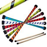 Flames N Games Twist Devilstick inkl. Holz Handstäbe mit 2mm Silikon. Profi Devil Stick Set Für Kinder und Erwachsene. (Weiß/Blau)
