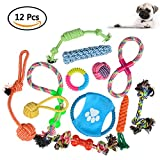 Hundespielzeug , ATPWONZ 12pcs Kauspielzeug Interaktives Spielzeug Baumwollknoten Spielset Seil Spielzeug für Hunde und Welpen