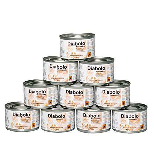 12 x DIABOLO Brennpaste - Chafing Dish Sicherheitsbrennpaste für Wärmebehälter 200 Gramm je Dose