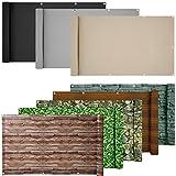 ESTEXO PVC-Balkonsichtschutz, Balkonbespannung, Balkonverkleidung, 6 Meter (0,9 x 6,0 Meter, Hellgrau)