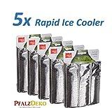 Unser Herbstknaller: 5x Weinkühler 'Rapid Ice Silber' von Vacu Vin