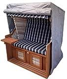 Strandkorbhülle Strandkorbhaube Comfort Premium 130cm x 100cm grau