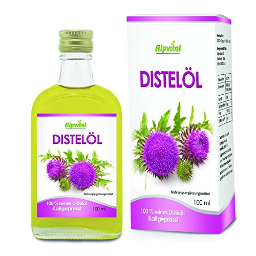 Alpvital Distelöl 100% kaltgepresst 100ml - Leber Organismus Abwehrkräfte Immun Vitamin B