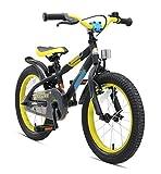 Bikestar Premium Sicherheits Kinderfahrrad 16 Zoll für Mädchen und Jungen ab 4-5 Jahre  16er Kinderrad Mountainbike  Fahrrad für Kinder Schwarz & Grün