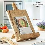 Kochbuchhalter aus Holz, Buchständer 38x25x7 cm