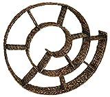 KMH, CD Wandregal Schnecke aus handgeflochtener Wasserhyazinthe - Farbe: braun (#204077)