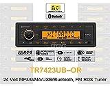 Continental TR7423UB-OR 24 Volt - MP3-Autoradio mit Bluetooth / USB / AUX-IN