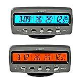 Itian LCD Automotive Elektronische Uhren, Auto Innen und Außen Thermometer, Spannungsüberwachung , Wecker, Multifunktionstisch