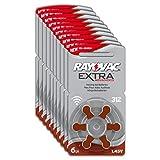 Rayovac Extra Advanced Zink Luft Hörgerätebatterie in der Größe 312 Frustfrei-Pack (mit 60 Batterien geeignet für Hörgeräte Hörhilfen Hörverstärker) braun