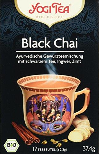 Yogi Tea Black Chai Bio, 3er Pack (3 x 37 g)