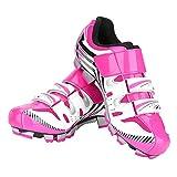 Fahrradschuhe Damen, Rutschfeste Rennrad Fahrradschuhe für MTB Mountainbike Pink(39)