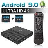 A95X F2 Android 9.0 TV Box 4GB RAM 64GB ROM TV Box Amlogic S905X2 Quad-Core 64bits Dual-WiFi 2.4G/5.0G/ 3D 4K Ultra HD/H.265/ USB 3.0/ HDMI 2.0 Smart Media Player Smart Set top Box