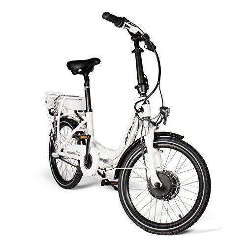 provelo E-Bike Faltrad in weiß | Unisex | Elektrofahrrad mit 20 Zoll (50,8 cm) Reifengröße | Fahrrad mit 3 Gang Nabenschaltung | Stadtrad | by