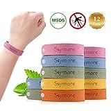 Skymore 12 Stück Mückenschutz Armband, Kinder Moskito Armband, Mosquito Repellent Bracelet mit Natürlichen Pflanzenölen für Kinder und Erwachsene