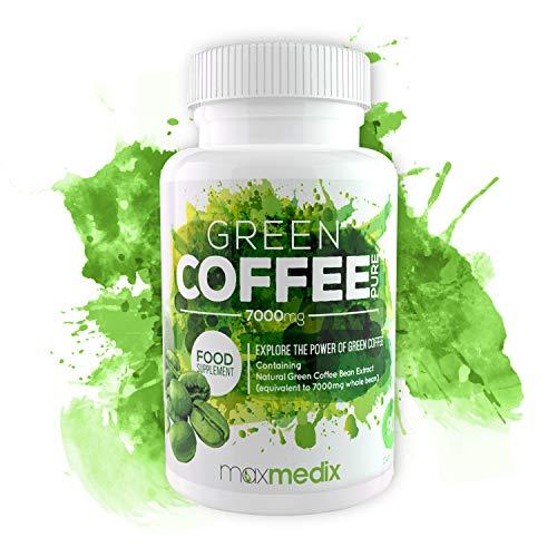 Grüner Kaffee Kapseln zum Abnehmen | Fettverbrennung anregen | Hochdosierter Grüner Kaffee | Natürliches Koffein für mehr Energie und Leistungsfähigkeit | Für Männer und Frauen