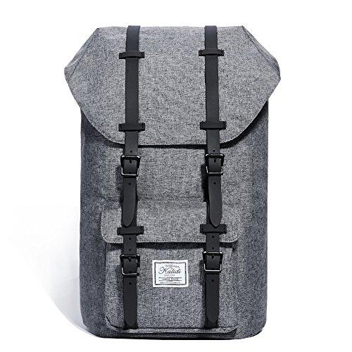 KALIDI 17 Zoll Laptop Rucksack Backpack Schulrucksack für bis zu 15.6 zoll Laptop Notebook Computer Arbeit Campus Studenten Outdoor Reisen Wandern mit Großer Kapazität (Dunkelgrau)