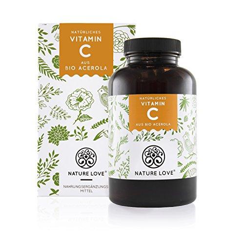 Natürliches Vitamin C in Bio Qualität. 180 Kapseln im 3 Monatsvorrat. Aus Bio Acerola Extrakt, reich an Bioflavonoiden und hoch bioverfügbar. Laborgeprüft, vegan und hergestellt in Deutschland