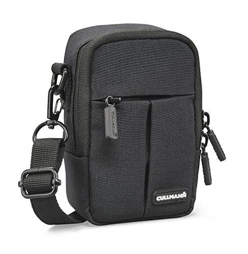 Cullmann 90240 MALAGA Compact 400 schwarz Kameratasche für  Kompaktkameras  wasserabweisend Rip-Stop Polyester PU-Beschichtung Trageriemen mit Metallkarabiner Fronttasche Innentasche Gürtelschlaufe