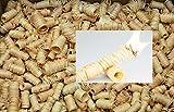 1,5 kg (ungefähr 135 Stück) mumba Tornados # natürliche Ofenanzünder aus Holzwolle in Wachs getränkt # Grillanzünder natürliche Holzanzünder Zündwolle Anzünder Wachs Kaminanzünder Feueranzünder Anzündwürfel Holzwolleanzünder Anzündhilfe