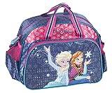 Ragusa-Trade Disney Frozen - Die Eiskönigin Anna und ELSA (DRF), Sporttasche Reisetasche für Mädchen, Blau/Pink, 40 x 27,5 x 17 cm