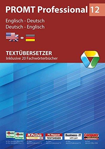 PROMT Professional 12 Englisch-Deutsch: Textübersetzer - Inklusive 20 Fachwörterbücher